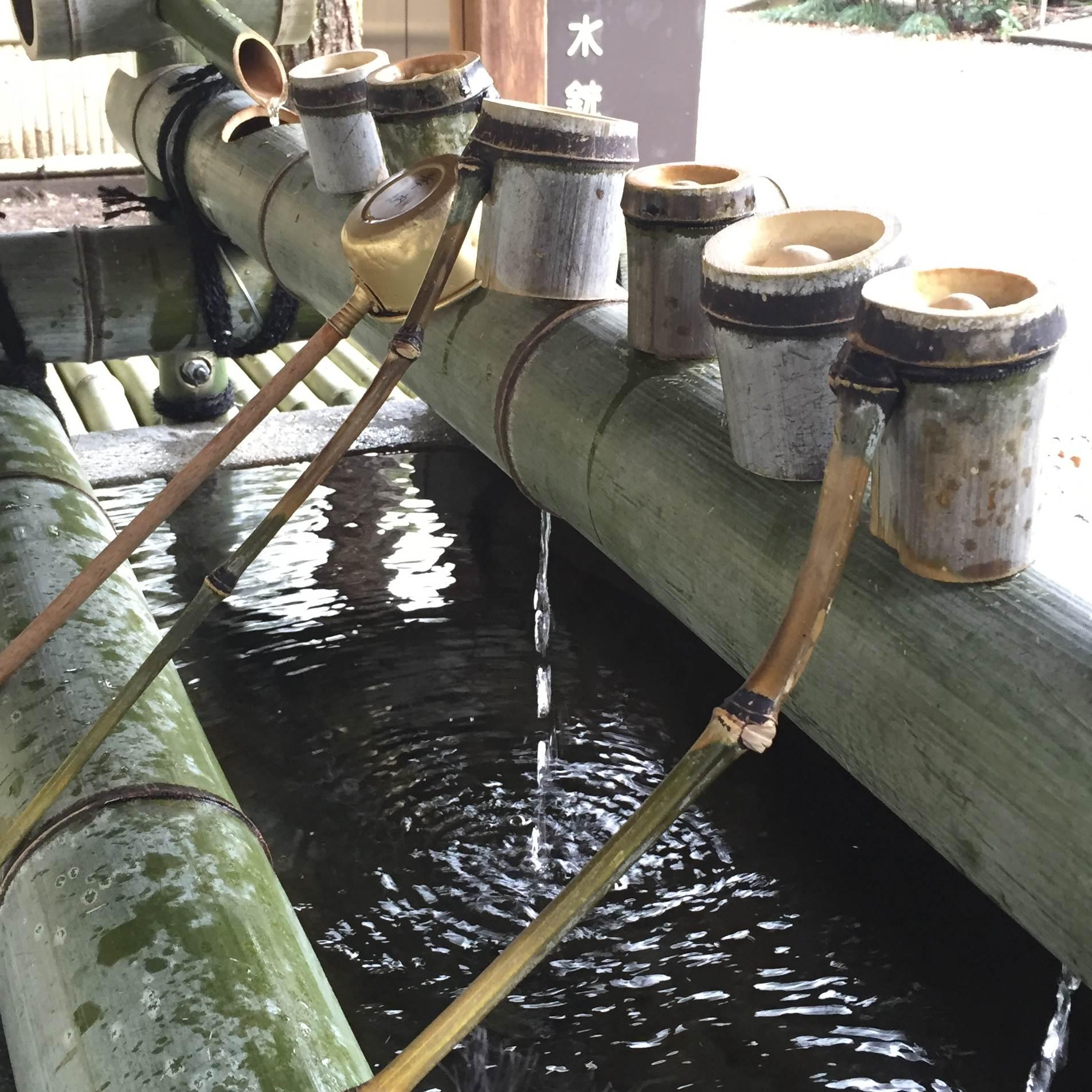 水無瀬神宮の離宮の水