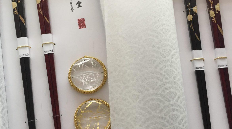 うるし手描き 白梅(しらうめ)お箸のギフトセット